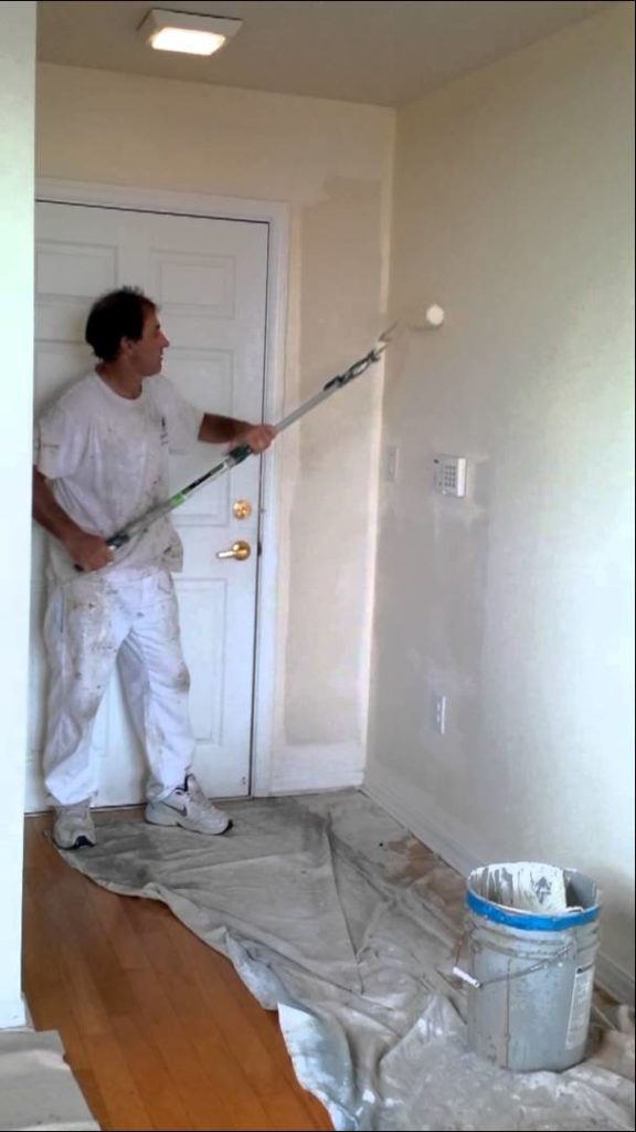 Painting Contractor – Rolling Interior Wall