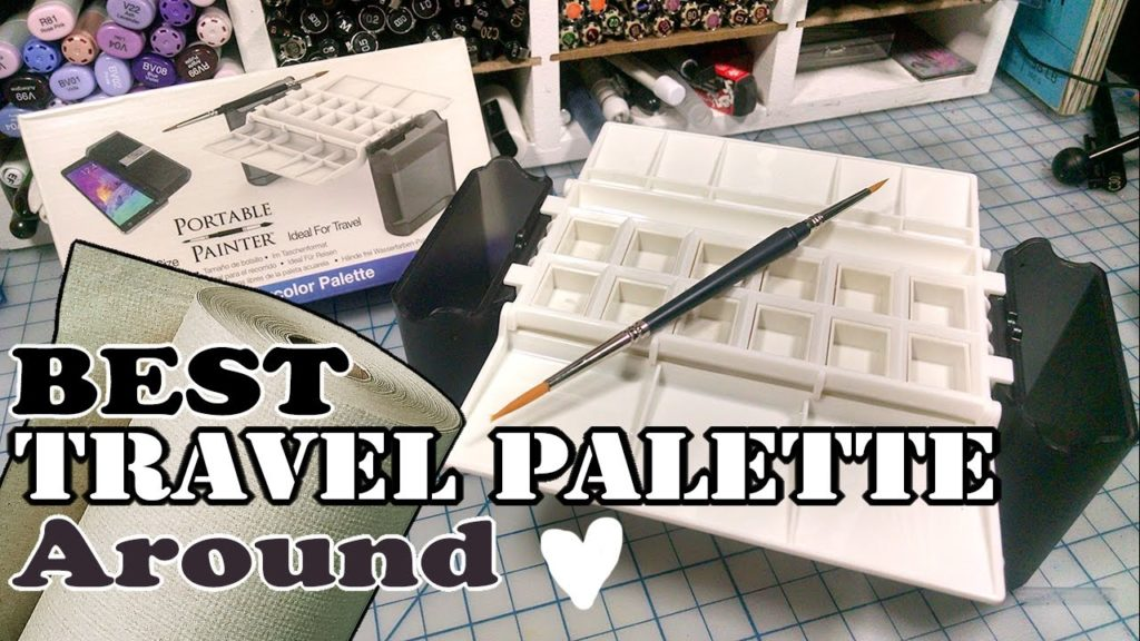 Best little Watercolor Travel Palette Ever! Portable Painter Review!