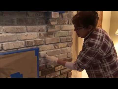 How To Distress Your Fireplace | Applying The White Wash | Morris County Paint Contractor