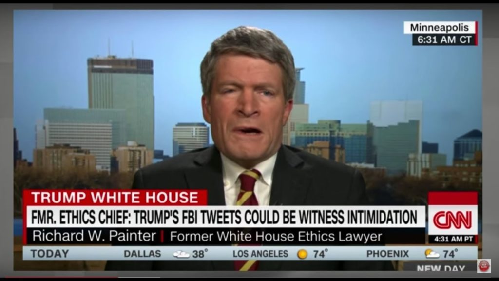 "Richard Painter C0MPLETELY 0WNS Trump, ""He's Running a CRlMlNAL 0rganization From the White House"""