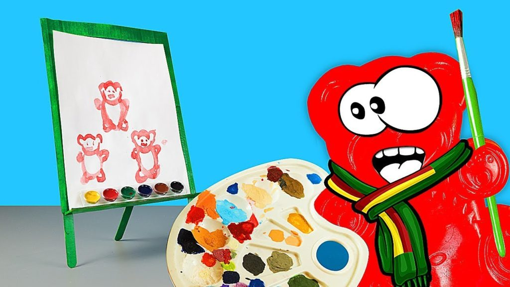 THE PAINTER JELLY GUMMY BEAR AND HIS NEW ADVENTURES